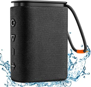 IPX7 Waterproof Bluetooth Speaker, Hadisala H2 Portable Wireless Speaker Bluetooth 5.0 with Rich Bass HD Stereo Sound 15H Playtime USB-C Charge, Shower Speaker TWS Pairing for Home, Outdoors, Travel
