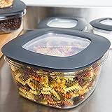 Rubbermaid 食品储存与 Tritan 塑料和 EASY FINE lids 灰色 14 Cup, 2 Pack