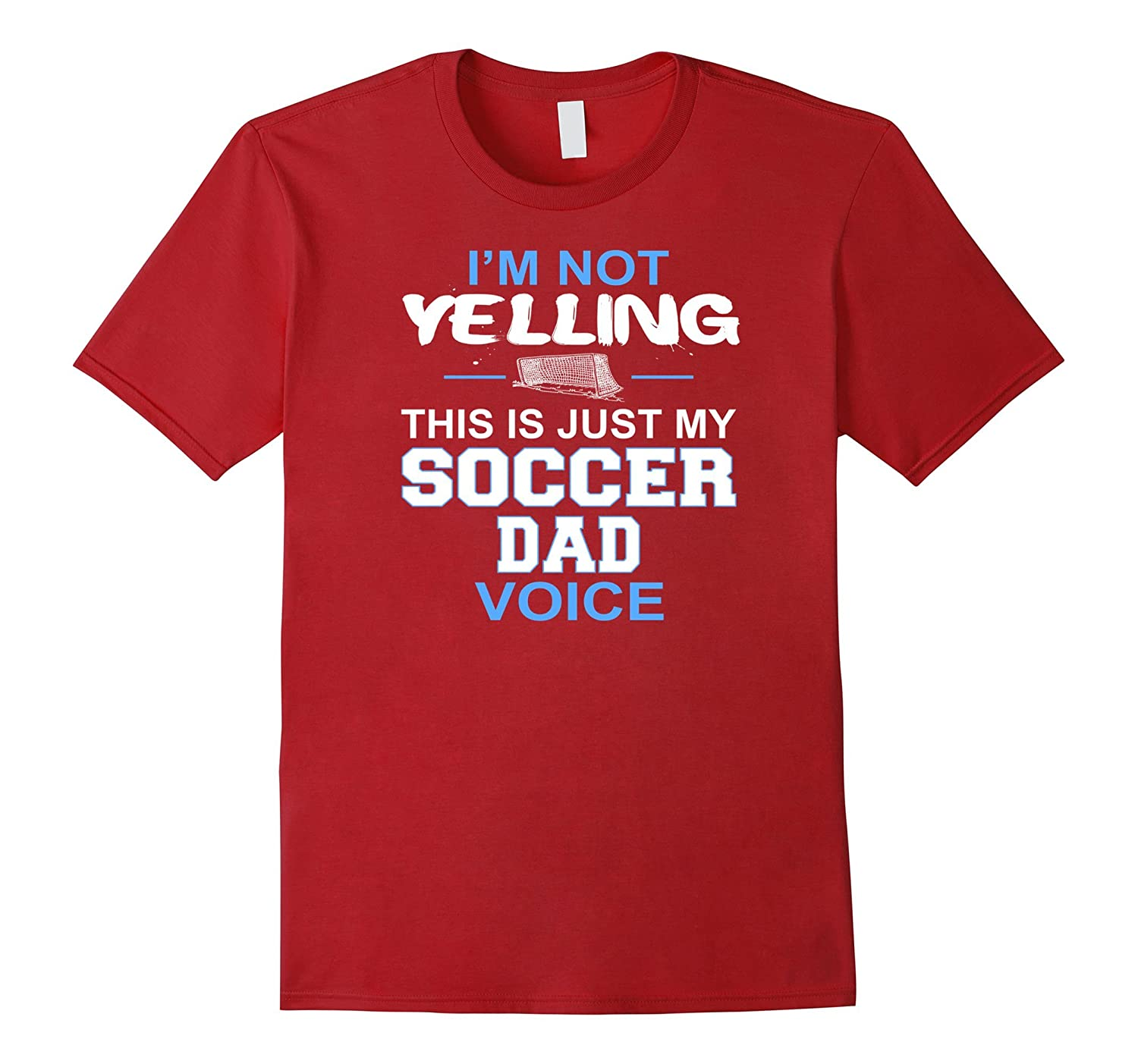 Mens Yelling Soccer Voice T Shirt-Tovacu