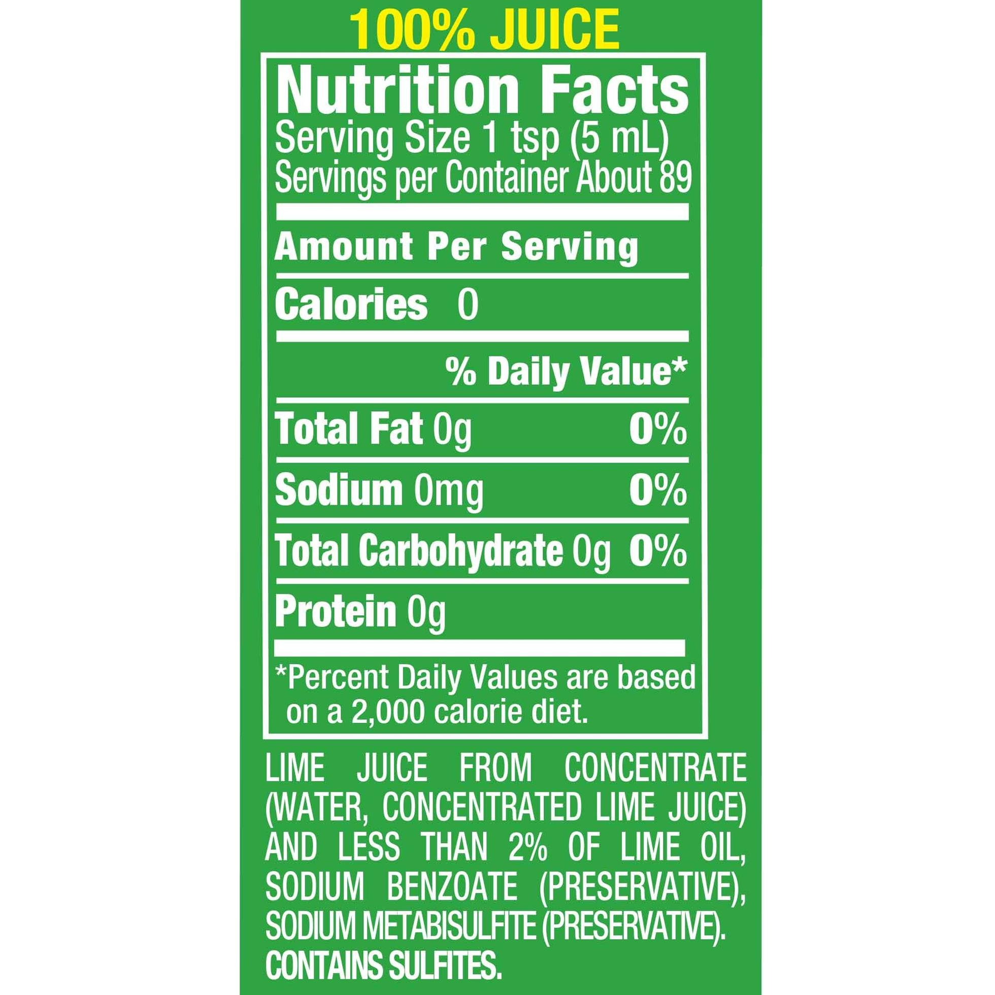 ReaLime 100% Lime Juice, 15 Fluid Ounce Bottle (Pack of 12) by Realime (Image #2)