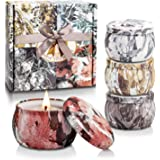 Scented Candles Gifts Set for Women Aromatherapy Candles, Upgraded Large Tin of Soy Candle Set Scented Lavender Candle, Gifts