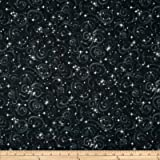 Stargazers Star Texture Black Fabric By The Yard