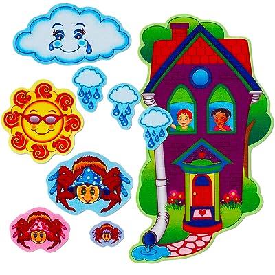 Little Folk Visuals Eency Weency Spider Precut Flannel/Felt Board Figures, 9 Pieces Set: Toys & Games