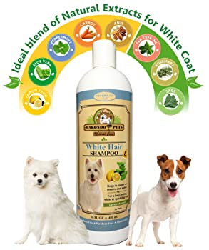 Makondo Pets Dog Whitening Shampoo– For Dogs With White/Light Colored Hair/Coat/Fur–White Haired Pets Shampoo For Itching/Dry/Sensitive