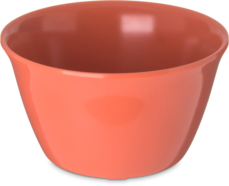 Carlisle 4354052 Dallas Ware Melamine Bouillon Cup, 8-oz. Capacity, 3.84 x 2.15, Sunset Orange (Case of 24) 3.84 x 2.15 Carlisle FoodService Products 43540-52