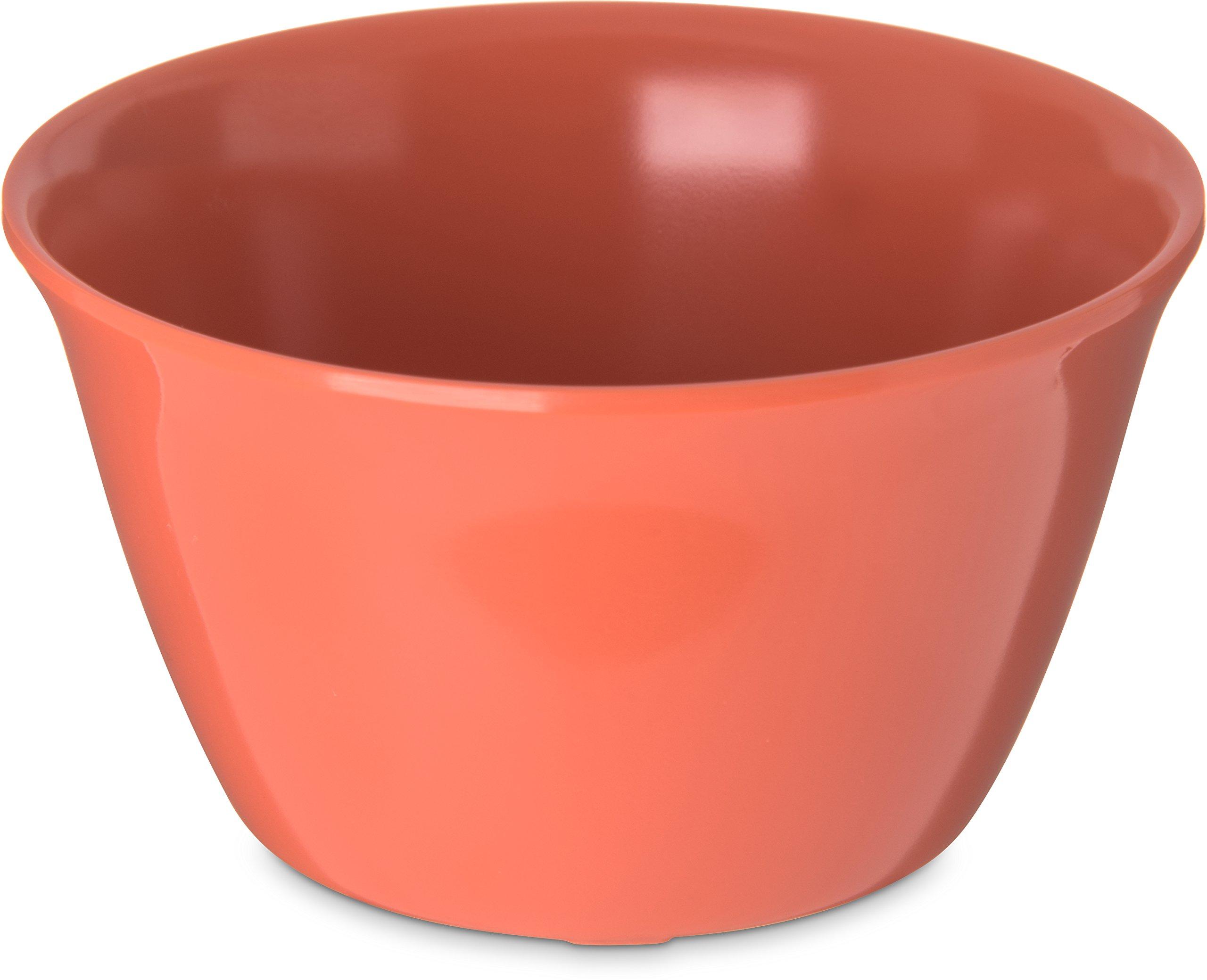 Carlisle 4354052 Dallas Ware Melamine Bouillon Cup, 8-oz. Capacity, 3.84 x 2.15'', Sunset Orange (Case of 24)