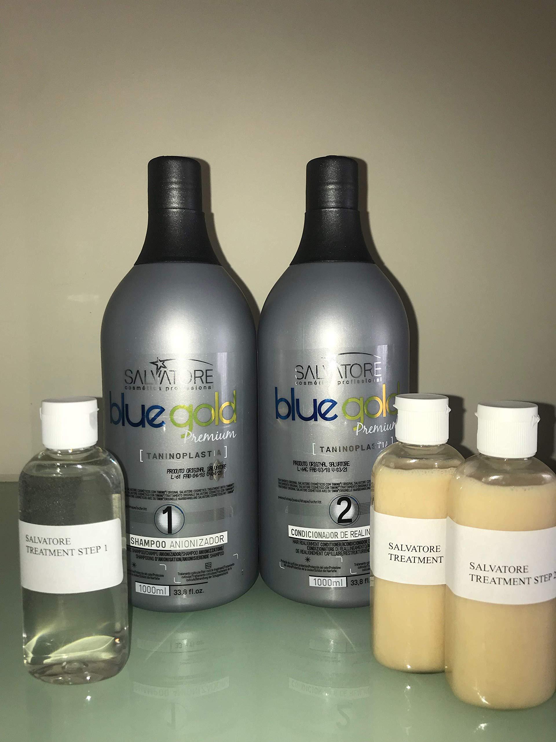 SALVATORE BLUE GOLD PREMIUM (3 X 100ML Shampoo and Keratin)