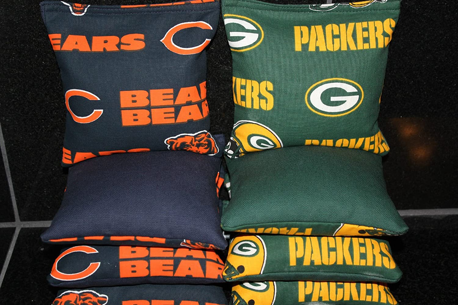 Magnificent Amazon Com Chicago Bears Green Bay Packers Cornhole Bean Evergreenethics Interior Chair Design Evergreenethicsorg