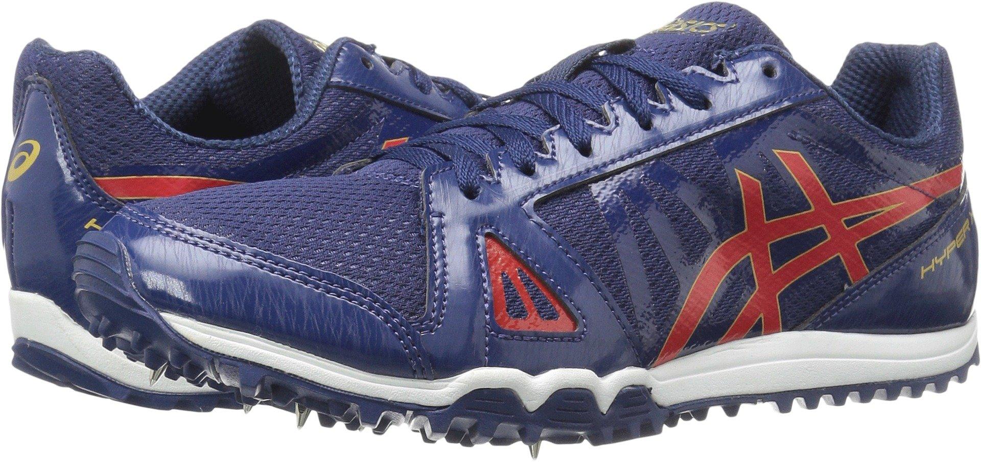 ASICS Men's Hyper XC Cross-Country Running Shoe, Estate Blue/Vermilion/Rich Gold, 8.5 M US