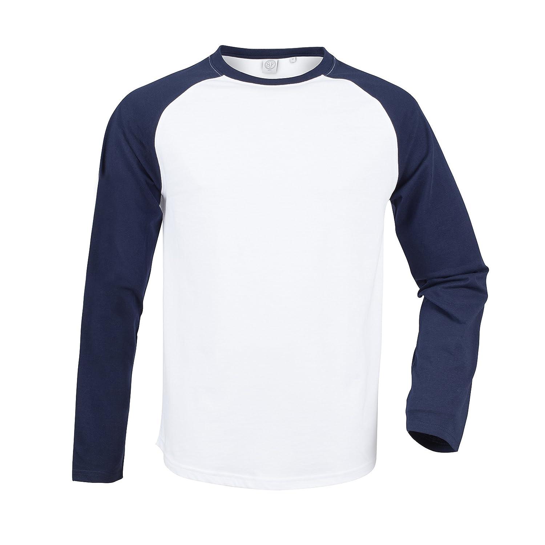 b204108b Skinnifit Men's Long Sleeve Baseball T-Shirt SF271: Amazon.co.uk: Clothing