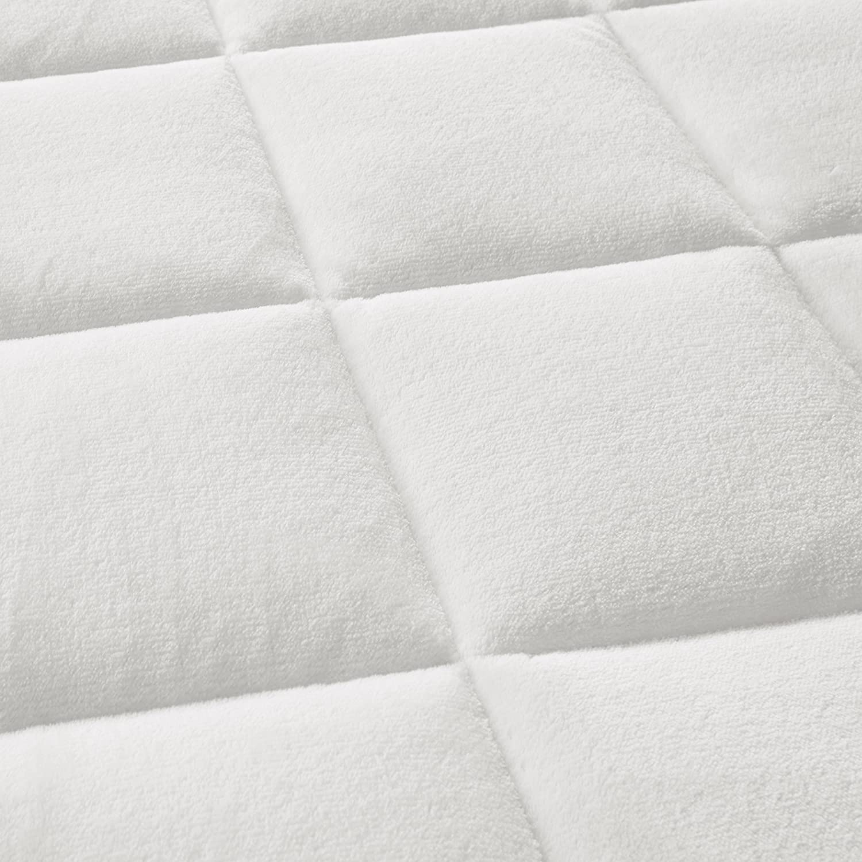 Cloud Soft Overfilled Plush Waterproof Mattress Pad White King Madison Park MP16-3148