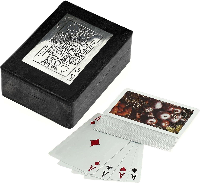 Caja de juego de cartas de madera para almacenamiento – juego de cartas soporte con mazo de cartas – juegos de la tarjeta – 3,81 x 11,43 x 8,89 cm: Amazon.es: Juguetes y juegos