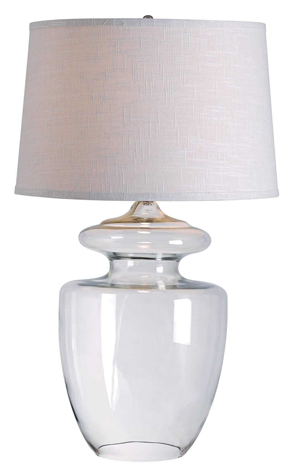 Kenroy Home 32260CLR Apothecary Table Lamp, Clear Glass Finish   Lamps For  Living Room   Amazon.com