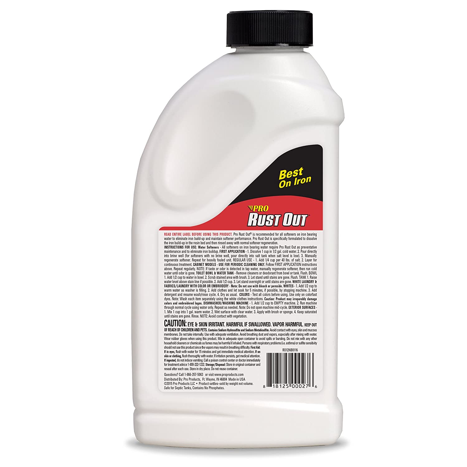 Amazon.com: Pro Products RO12N Rust Out Water Softener Cleaner And ...