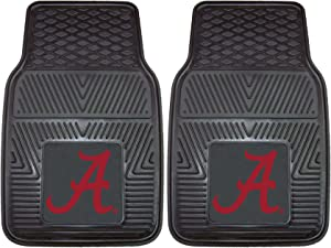 FANMATS NCAA University of Alabama Crimson Tide Vinyl Heavy Duty Car Mat ( set of two )