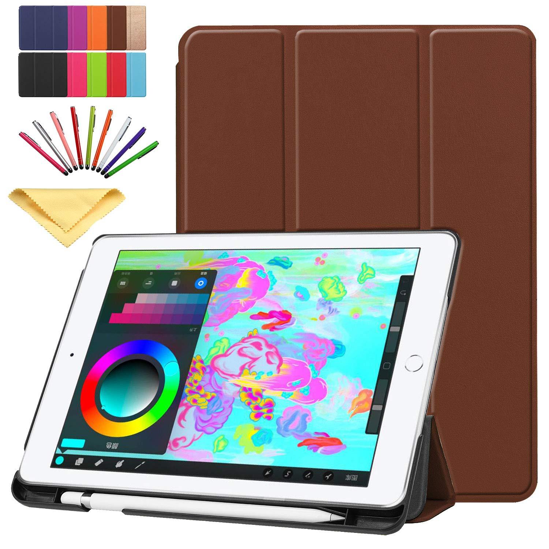 【正規品質保証】 Uliking iPad Brown B07KXWC5T9 9.7インチ2018 2017用ケース スマートフォリオスタンド PUレザー TPUウォレット カードポケット鉛筆ホルダー付き iPad [スタイラスペン] 磁気自動ウェイク/スリープカバー Apple iPad 第6世代/第5世代用 ブラウン 01 Brown B07KXWC5T9, 水沢市:a6c55b9e --- a0267596.xsph.ru