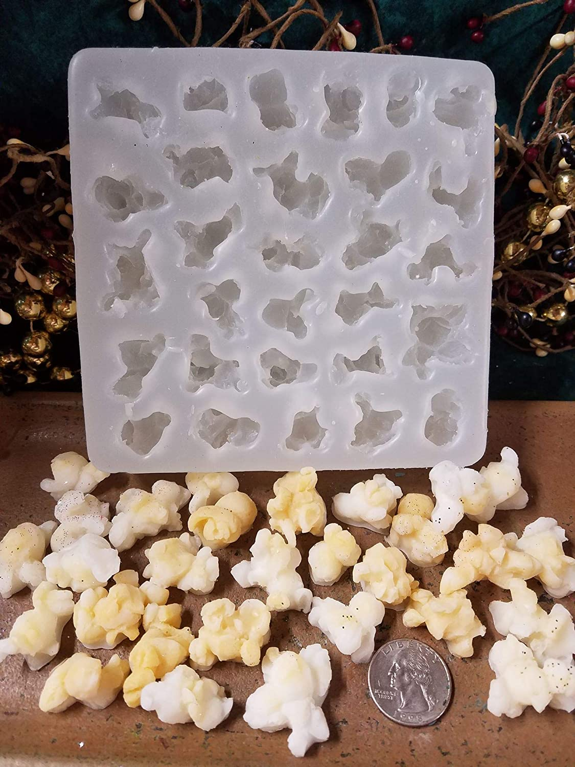 Popcorn Embeds 29 Cavity Silicone Mold 5064 Food-Soap-Candle-Resin-Flexible Van Yulay