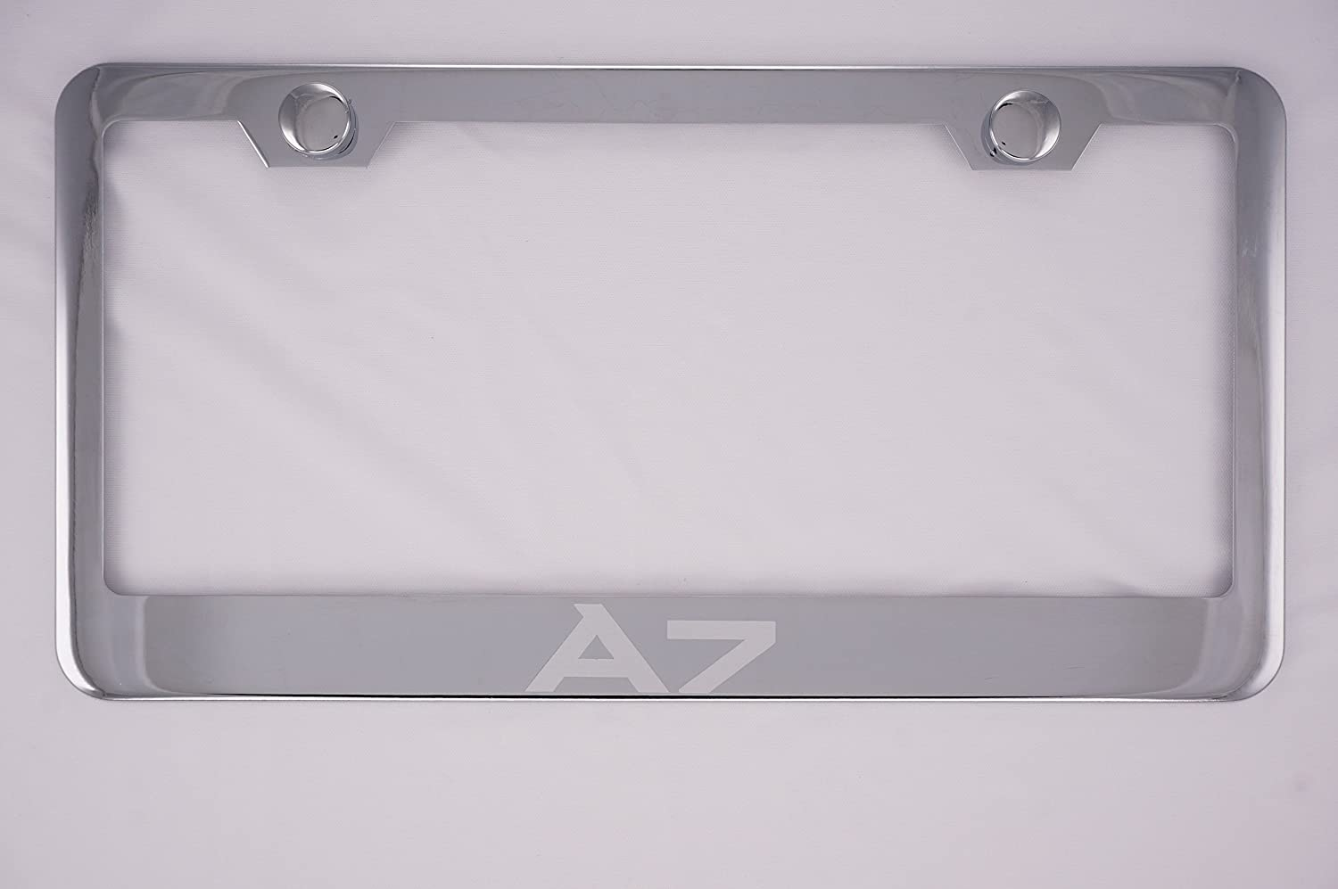 2 x PREMIUM CHROME STAINLESS STEEL NUMBER PLATE SURROUND HOLDER FOR AUDI