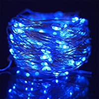 Twinkle Star 200 LED 66ft Halloween Fairy String Lights USB & Adapter Powered, Dimmable Control Starry Silver Wire…
