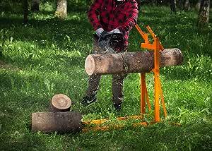Pecale Log Holder for Wood Cutting, Folding Wood Smart Sawhorse
