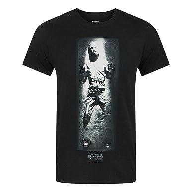 4fc374b7 Star Wars Han Solo Carbonite Black 100% Cotton Men's T-Shirt: Amazon ...