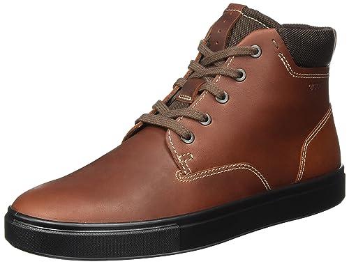 ECCO Kyle, Sneaker a Collo Alto Uomo, Marrone (Cognac), 44 EU