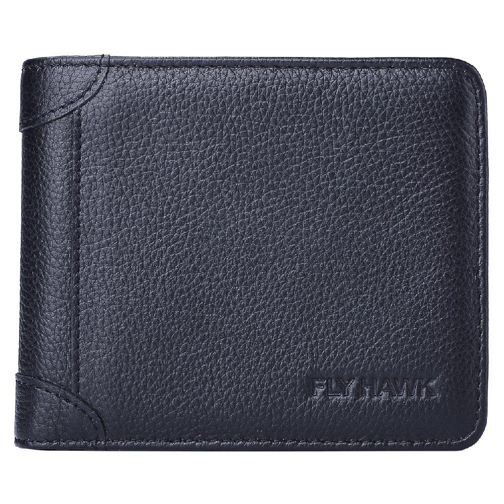 4811b4530dd3 FlyHawk Best RFID Blocking Top Genuine Leather Wallets for Mens