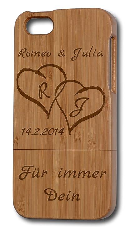 3502dff10e2 Grabado personalizado madera   Texto y símbolos, iPhone 5/5S, bambú, madera