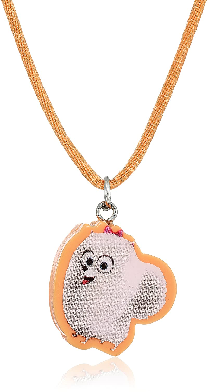 Secret Life of Pets 4 Piece Cutout Gidget Pendant Max Bangle and 2 Rings Charm Bracelet