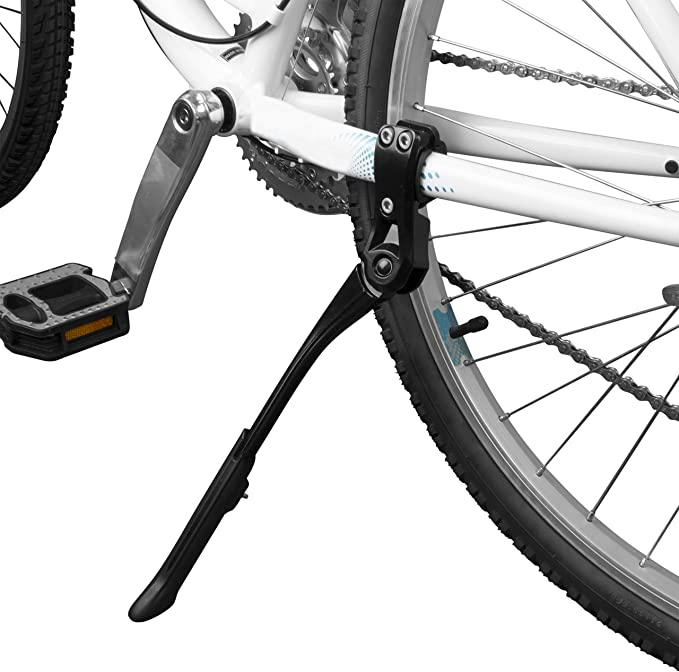 Adjustable Mountain Bike Bicycle Cycle Prop Side Rear Kick Stand Black Silver