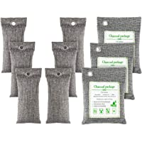 FOYO Bamboo Charcoal Bags Activated Charcoal Odor Absorber Moisture Absorber Car Odor Eliminators for Home Charcoal Bags…