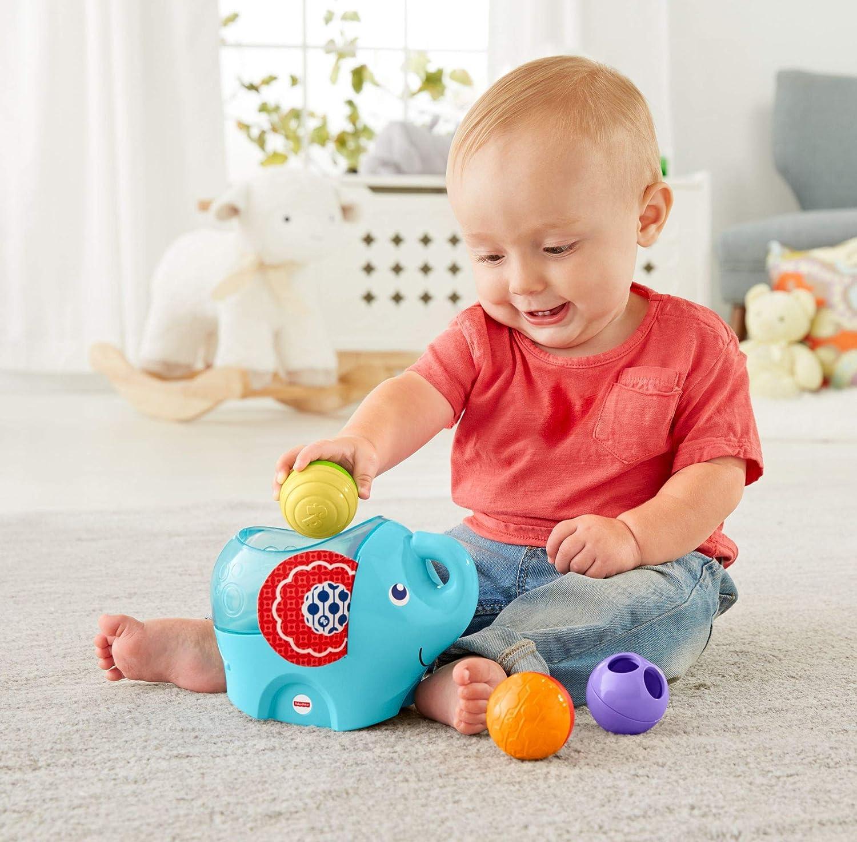 Fisher-Price Elefantito pelotitas, juguete para bebé +3 meses ...