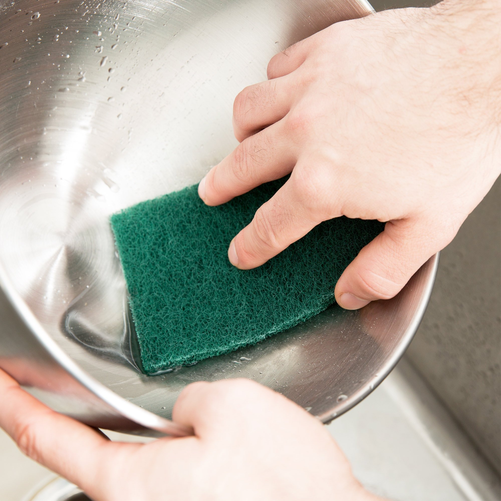 HeRO Dish Scrubber Scouring Pads - Household Scrub Pads for Stove Top Cleaner and Kitchen Scrubbers for Dishes, Cuts Solvents & Greasy Messes, Green 4.5 x 6 inch (Pack of 40)          by HERO IMPORTS (Image #5)
