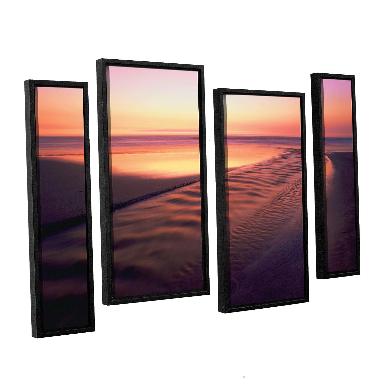 36 by 54 ArtWall 0uhl005i3654f Dean Uhlinger 4 Piece Back to The Sea Floater Framed Canvas Staggered Set