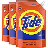 Tide Liquid Laundry Detergent, Original Scent, Pack of 3, 93 total loads