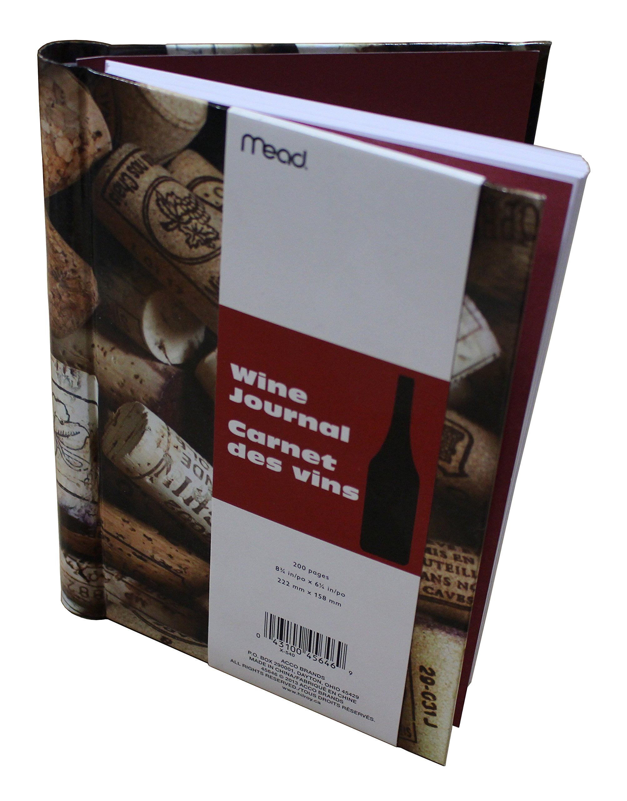 Mead Wine Journal, Dimensions 8 ¾ in x 6 ¼ in (222 mm x 158 mm), 200 pages