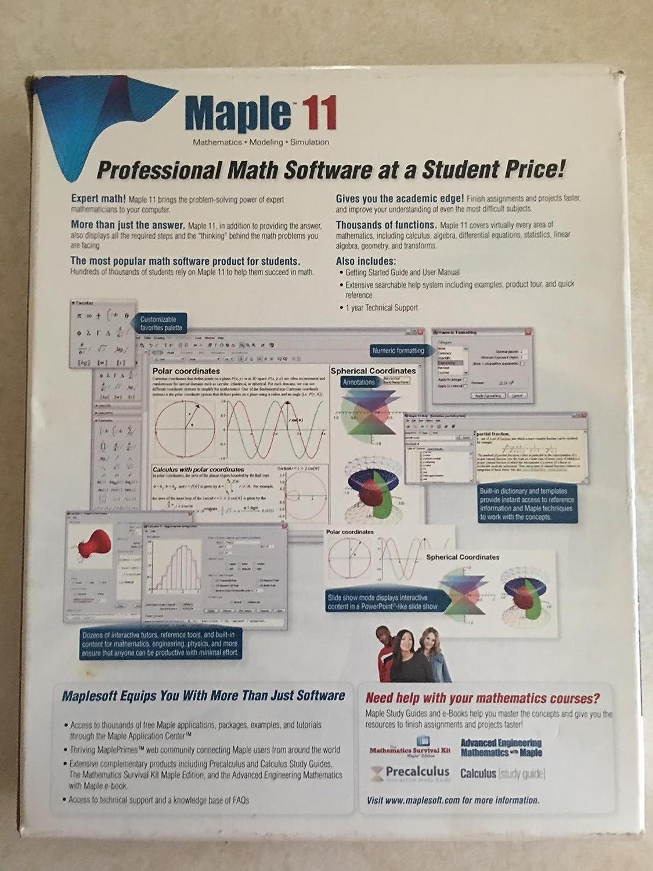 amazon com maple 11 software rh amazon com V18.0 Maplesoft Maple