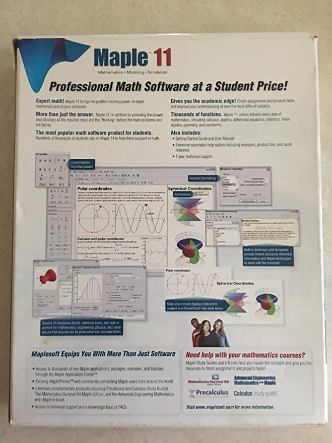 amazon com maple 11 software rh amazon com Maplesoft Maple 2017 Maple Math Online