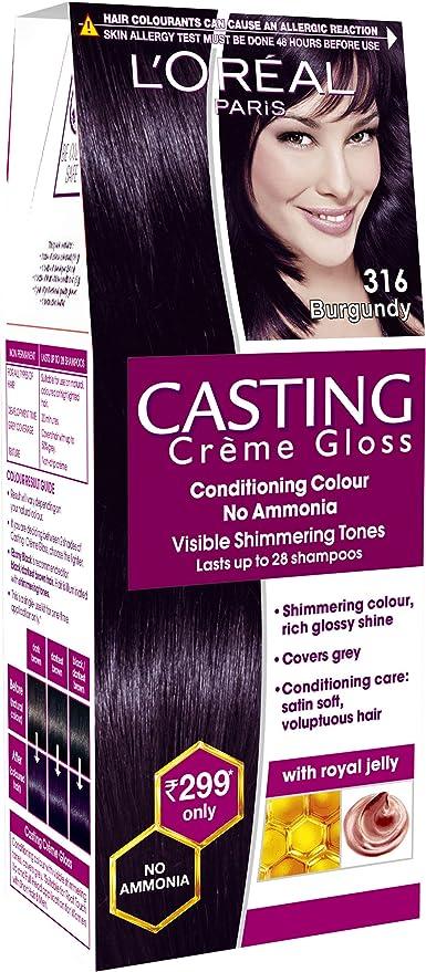 Buy Loreal Paris Casting Creme Gloss Shade Burgundy 21 G 24 Ml