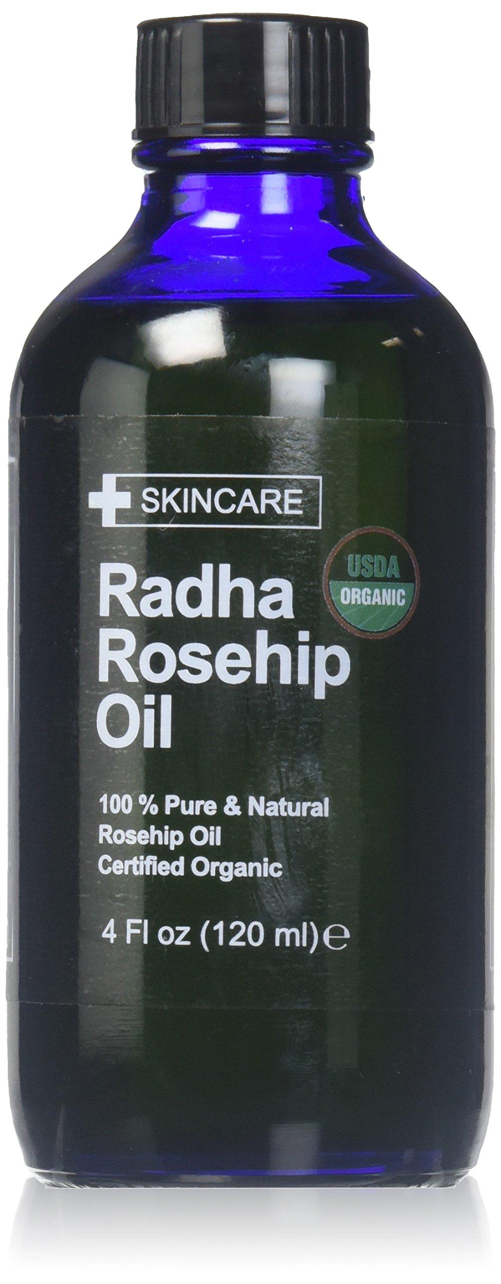 Radha Beauty USDA Certified Organic 100% Pure Oil - 4 oz. (Rosehip)