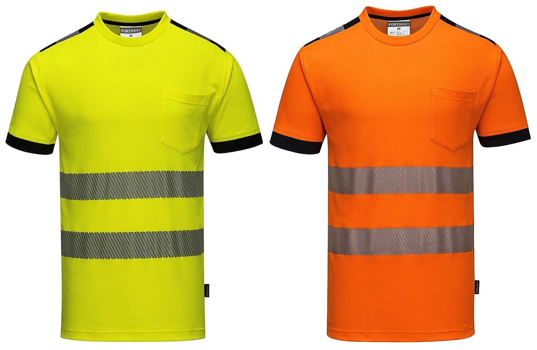 Vision Portwest T181 T-Shirt Alta Visibilit/à Giallo XL