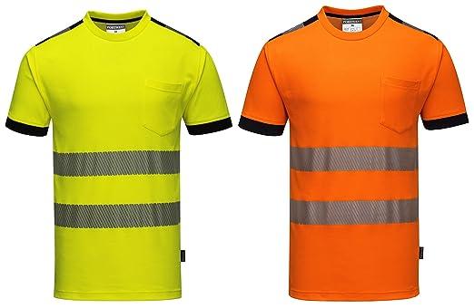 Portwest T181ORRXXXL Vision - Camiseta de alta visibilidad (talla 3XL), color naranja: Amazon.es: Industria, empresas y ciencia