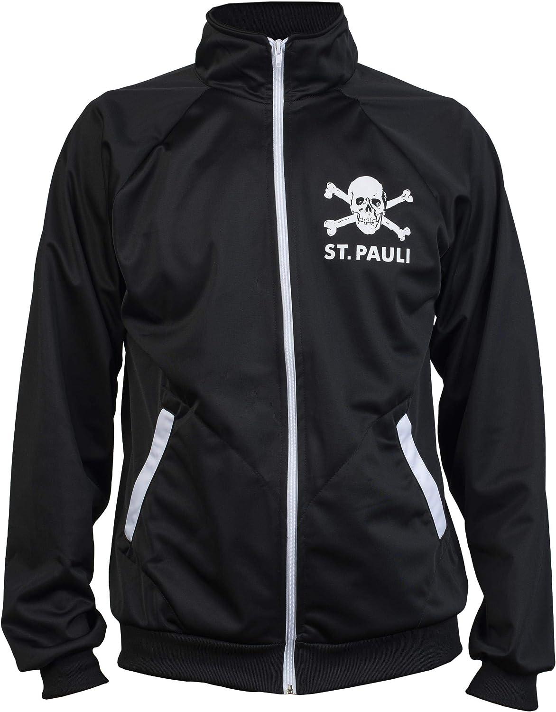 St. Pauli Negro Ultras Cráneo Kult Bandera Punk Activista De La Chaqueta De Chándal De Fútbol: Amazon.es: Ropa y accesorios