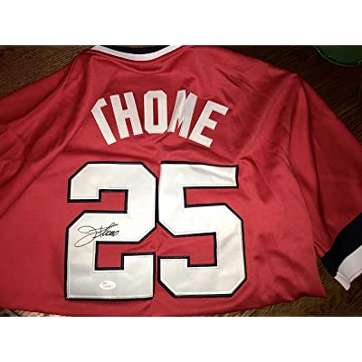 best sneakers 66f91 212c9 Autographed Jim Thome Jersey - Hall of Fame HOF - JSA ...