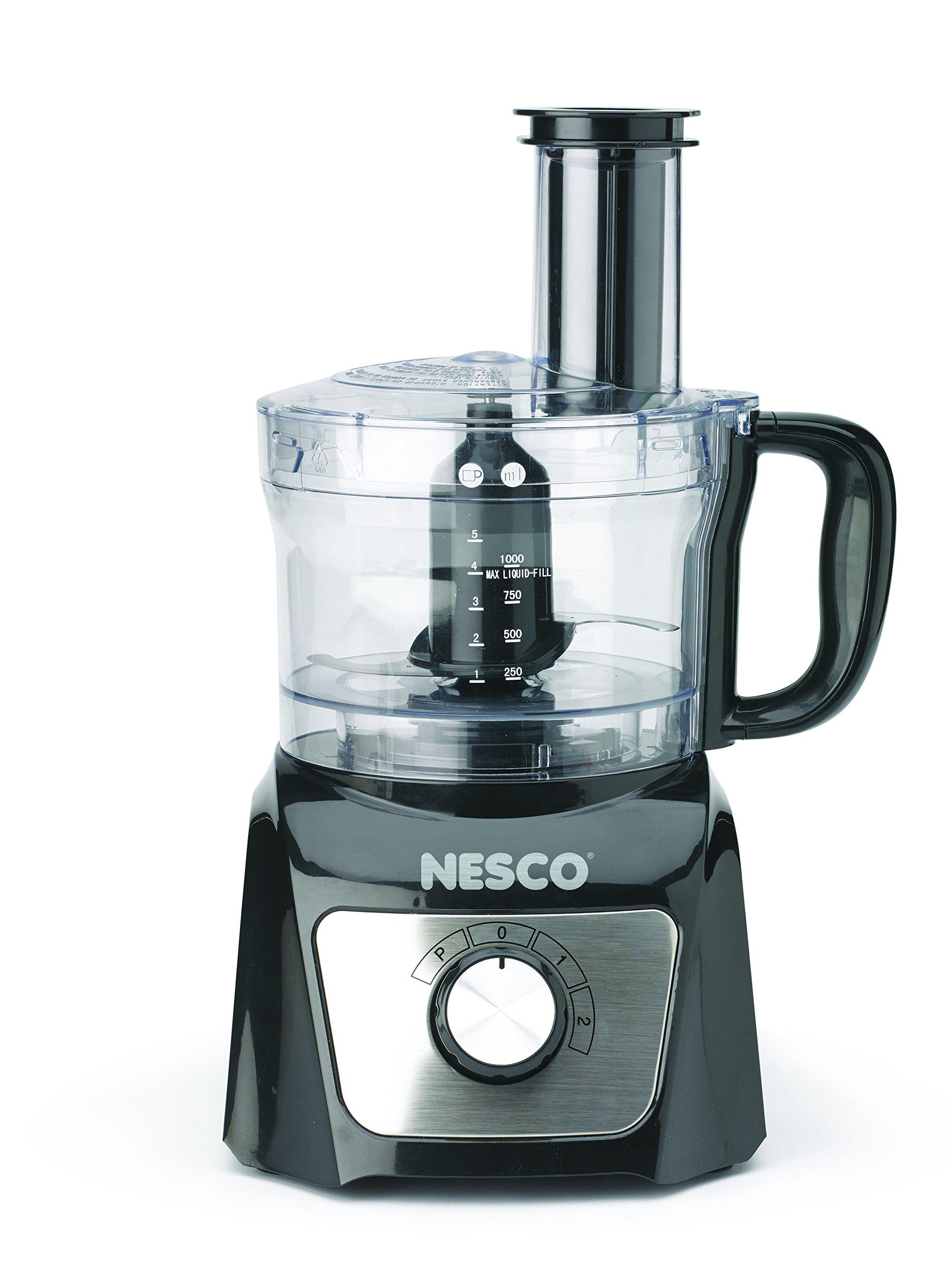Nesco FP-800 Food Processor, 8-Cup, Black