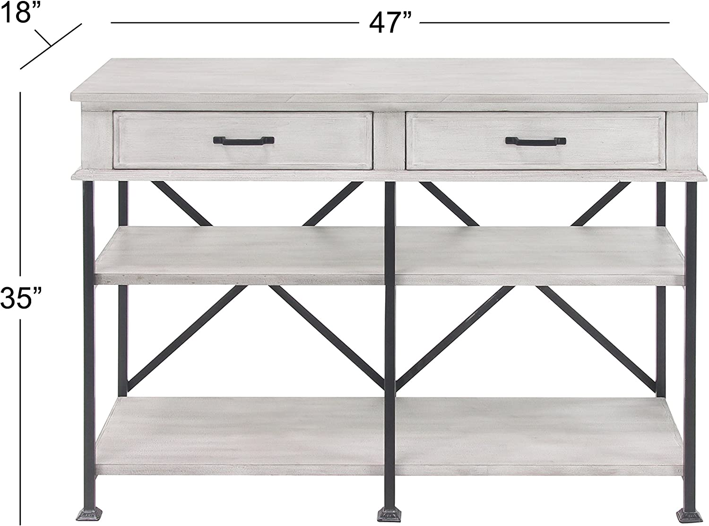 Black Deco 79 77620 Console Table White