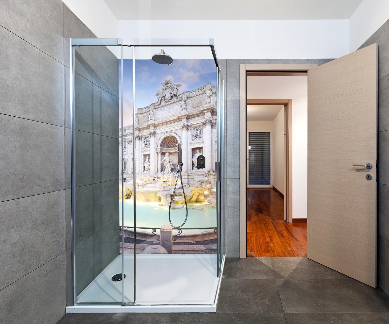wandmotiv24 Cubierta Trasera de Ducha Fuente de Trevi, Roma 100 x ...