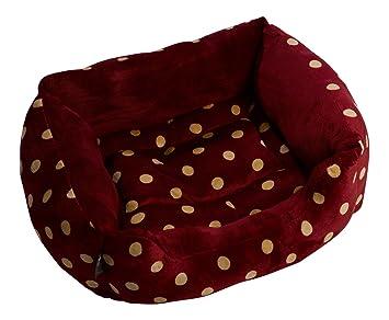 Amazon.com: Petface cuadrado felpa cachorro perro cama cesta ...