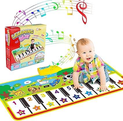 Alfombra para piano, Alfombra de Teclado Táctil Musical Touch Juego Musical Portátil Electrónico Educativo Musical Tapete de Piano Teclas para Bebé, ...