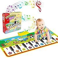 Alfombra para piano, Alfombra de Teclado Táctil Musical Touch Juego Musical Portátil Electrónico Educativo Musical…